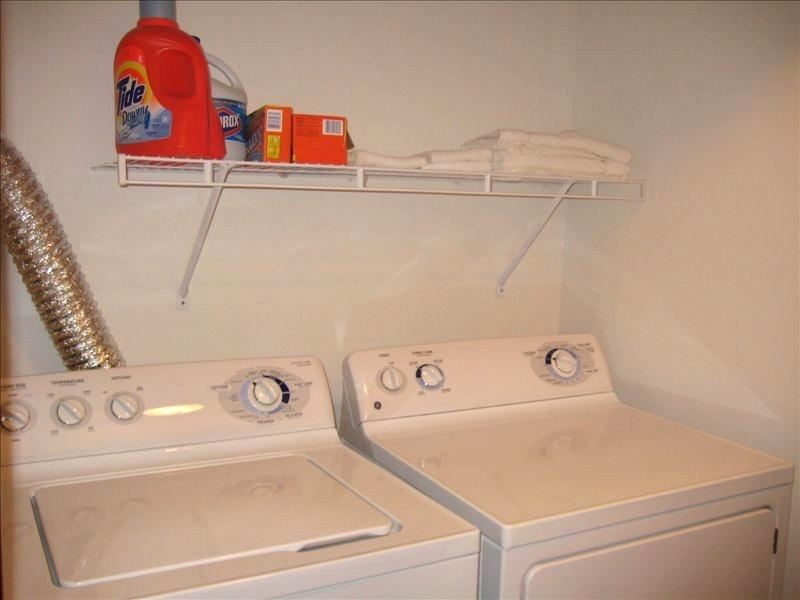 Laundry Room.  Full Size Washer and Dryer