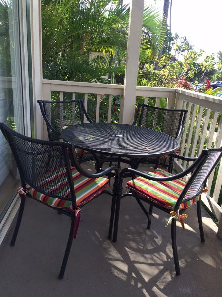 Brand new lanai dining table and chairs
