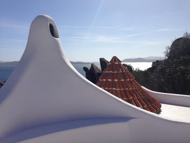 View from the side of the roof - towards Porto Cervo