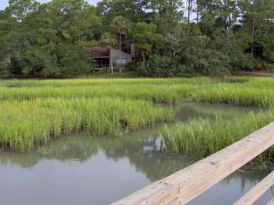 Back of house from marsh pier.