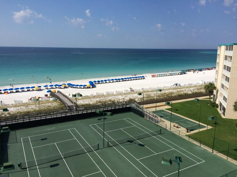 The actual view from our balcony - spectacular.