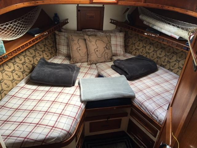 Cozy sleeping berth!