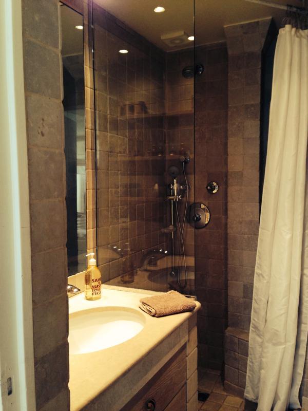 shower travertine