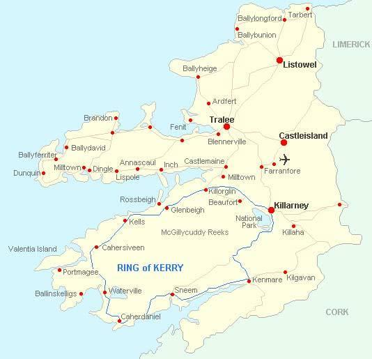 Killorglin Town - Mid-Kerry - Le quartier de Reeks est une base touristique centrale pour toutes les attractions touristiques.