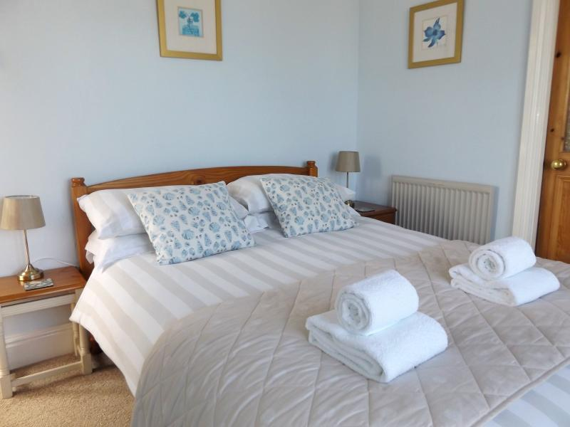 Lovely double bedroom with sea views across Lynton