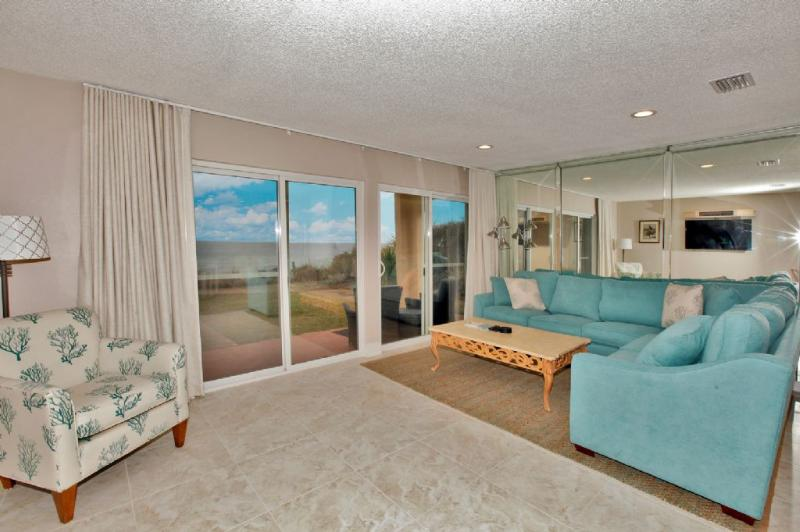Living Area w/Patio Access & Gorgeous Gulf Views