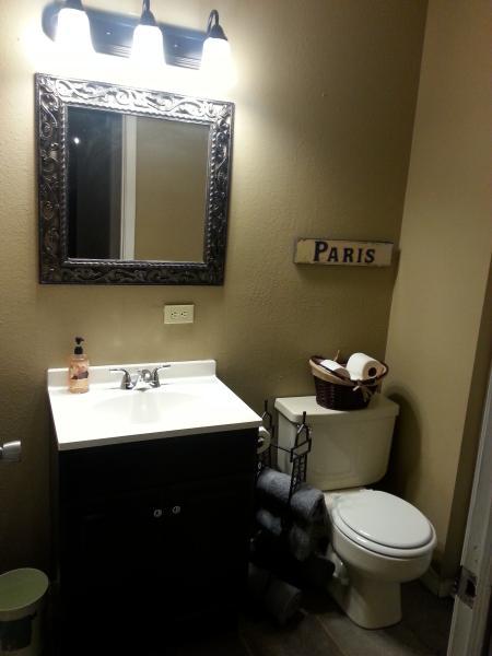 Bathroom with Handicap helper rails