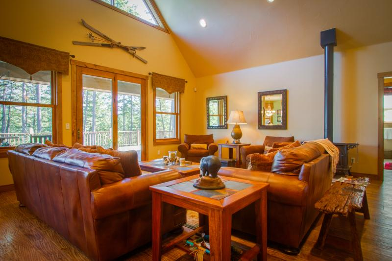 A GREAT ROOM to relax in comfort and enjoy the majestic views and open floor plan