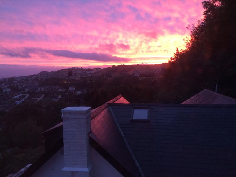 The Sun Rising- View from window in master bedroom