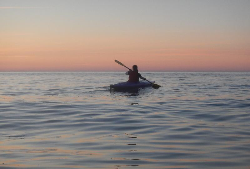 Kayaking on the ocean, 5 minutes away from the cottage.
