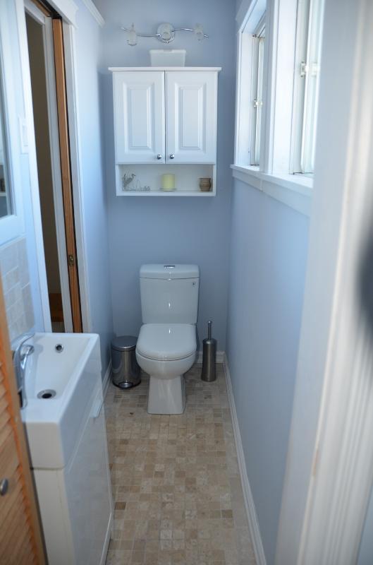 1/2 bathroom on second floor near bedrooms.