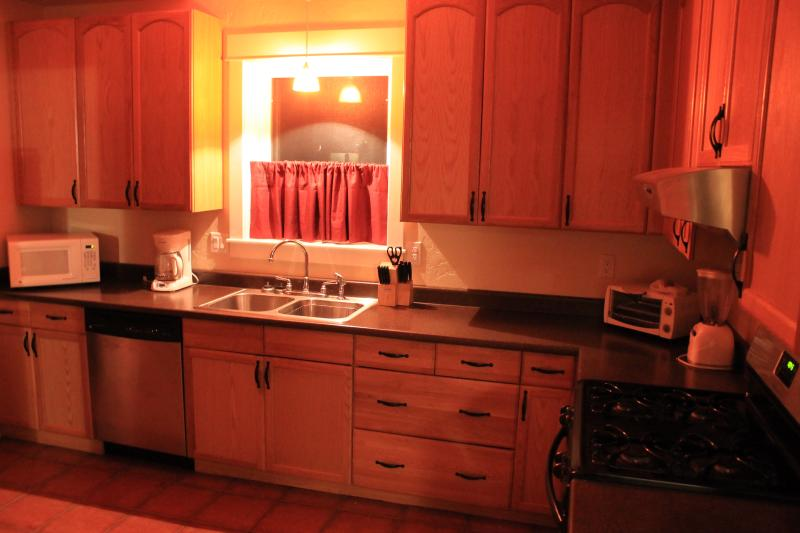 Kitchen at night and fully loaded