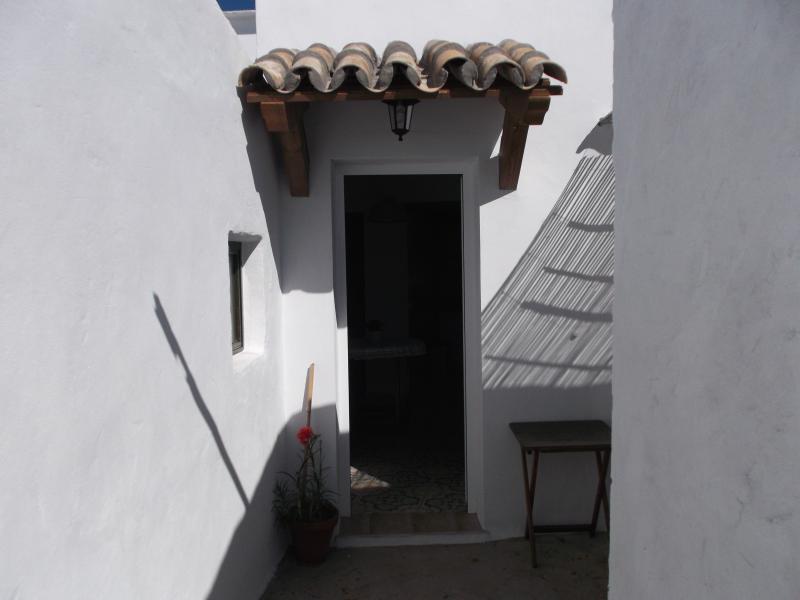 Puerta hacia la terraza y jardín