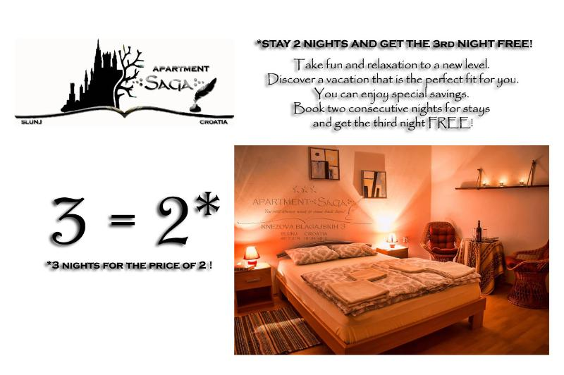 3 nights for the price of 2 !!