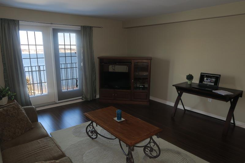 Living Room with view Bedford Basin