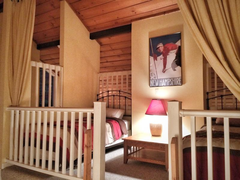 Another view of the loft. The upper loft has a full and a twin bed.