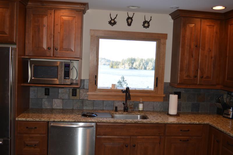 Beautiful lake view from kitchen!