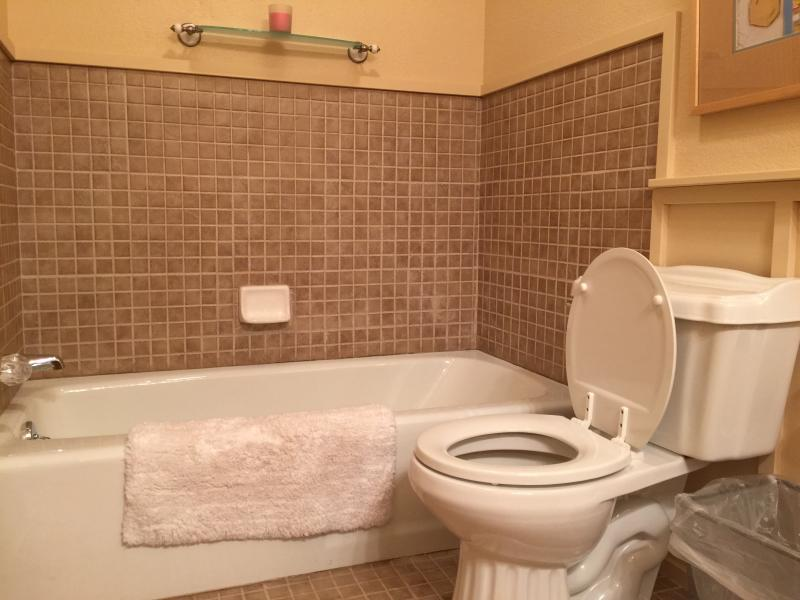 tub in second bath with separate walk in shower