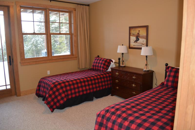 The Ski Lodge, lake views, not has a bunk bed with full size on bottom and twin on top.
