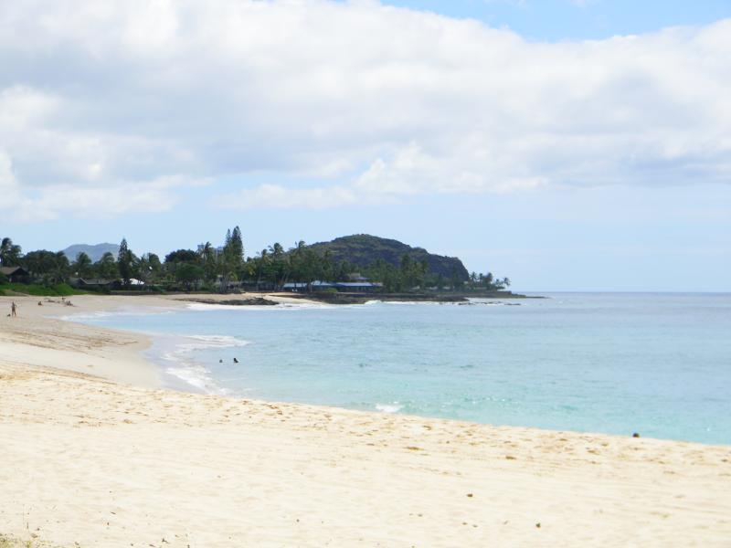 Makaha Beach Park in summer