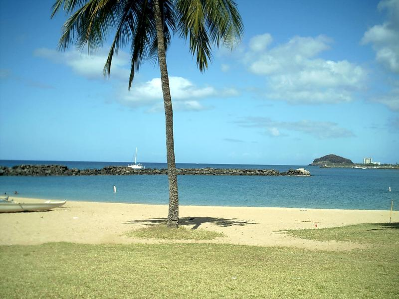 Quiet Pokai Bay  near Makaha