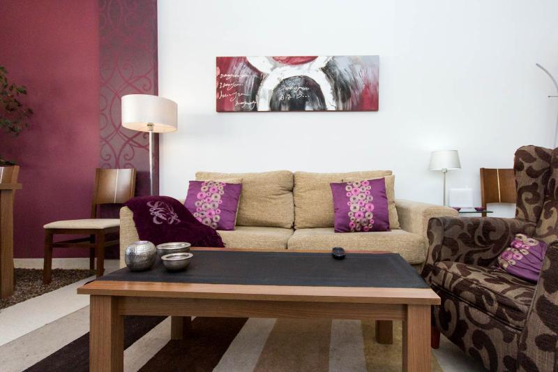 detalle salon y sofa-cama
