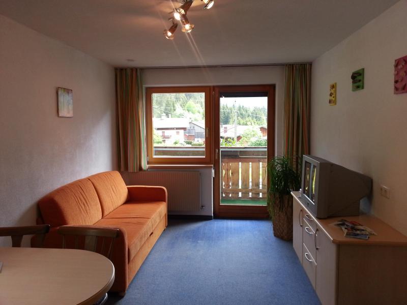Wohnzimmer mit Küche und Essbreich