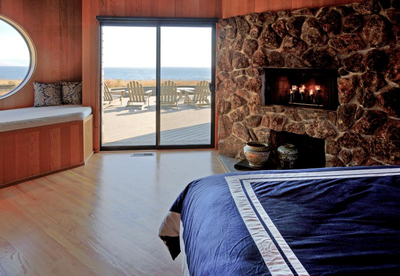 Step outside the master bedroom onto the large ocean-view deck.