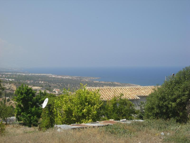 View of sea from site