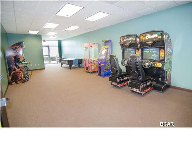 Arcade and game room.