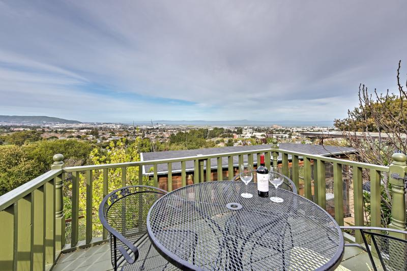 Enjoy gorgeous bay views on the private balcony.