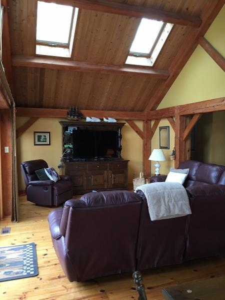 Cedar and pine ceilings
