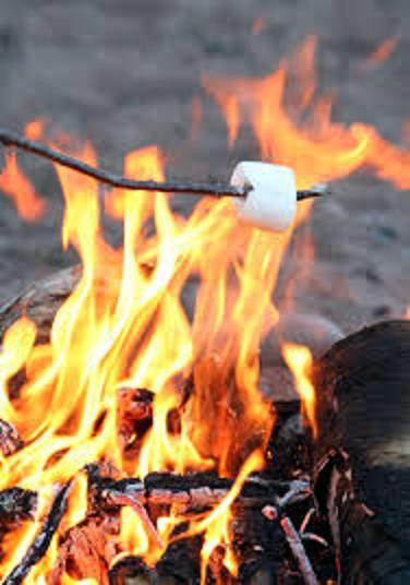 Roast some marshmallows year round in the lakeside fire pit