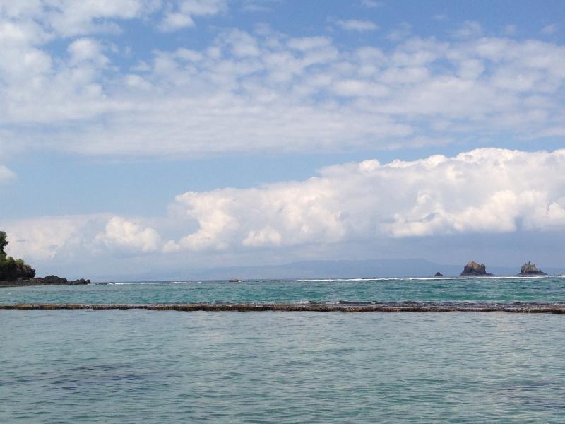 Vistas panorâmicas para a ilha de mergulho fora do ponto de o fardo meditação