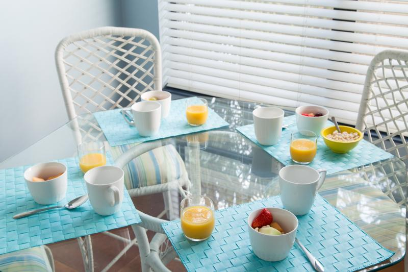 Breakfast nook with morning sun