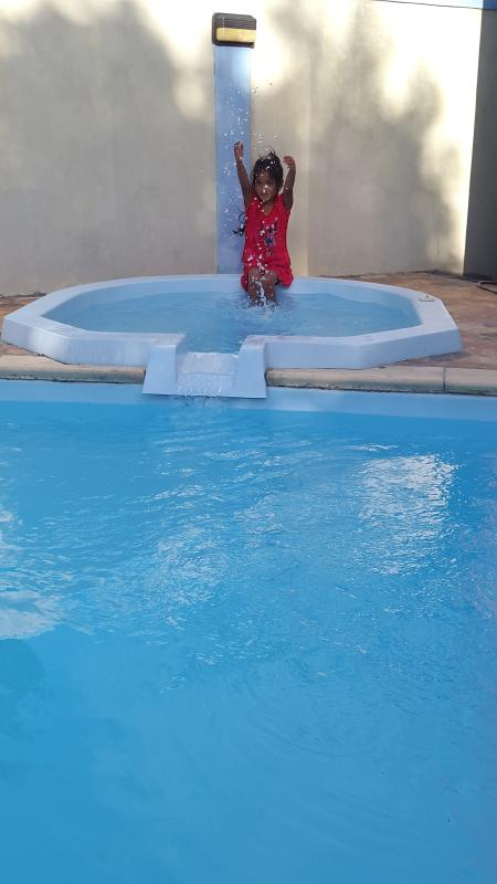 A small pool which is safe for children