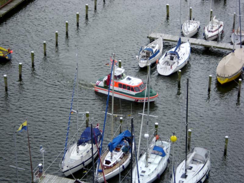 Blick aus dem Fenster direkt auf die Marina