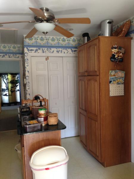 Kitchen pantry and laundry area
