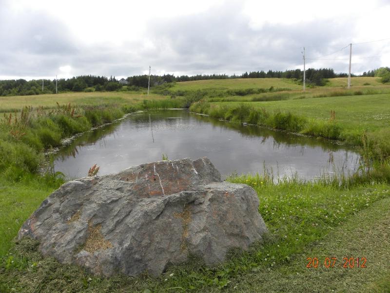 Large private pond