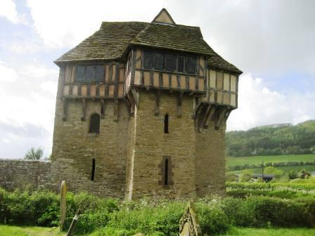 Stokesay Castle a fortified manor house dating from 13th Century.