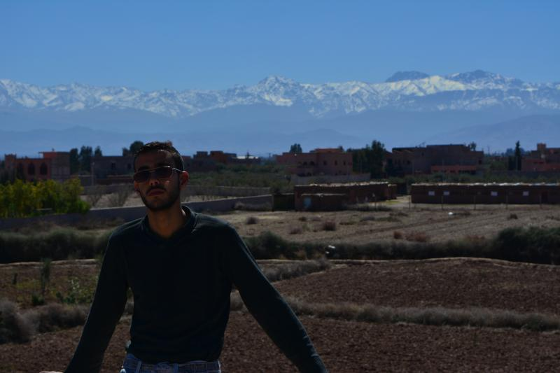 Stunning views of the High Atlas from the terrace and the Grand Bedroom