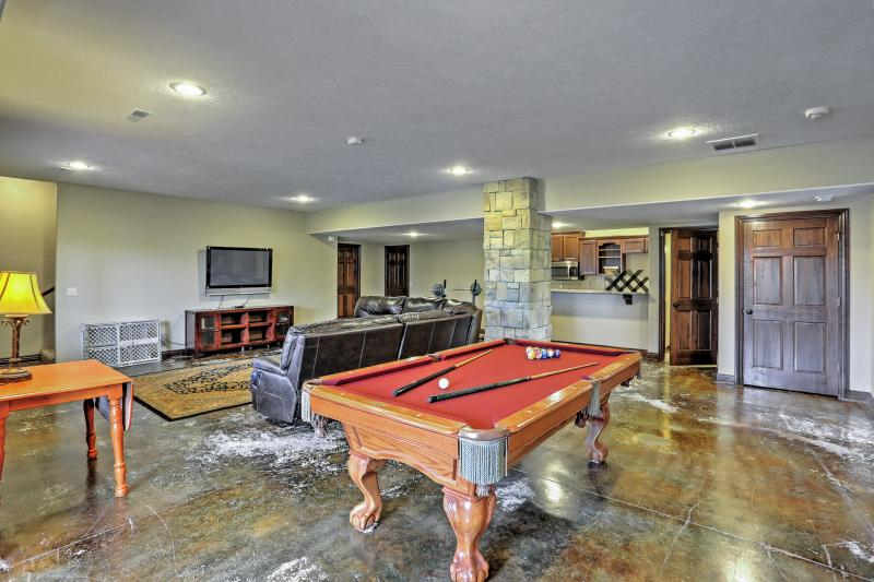 Spend countless hours playing pool or relaxing downstairs.