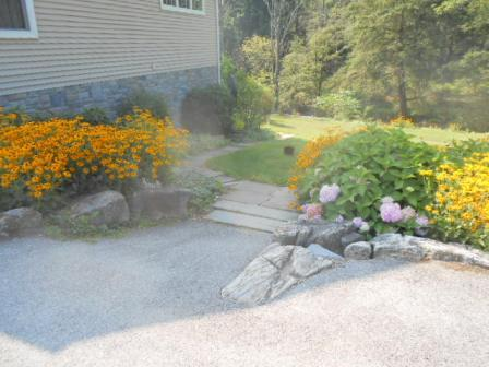 Parking area and Steps to Private entrance