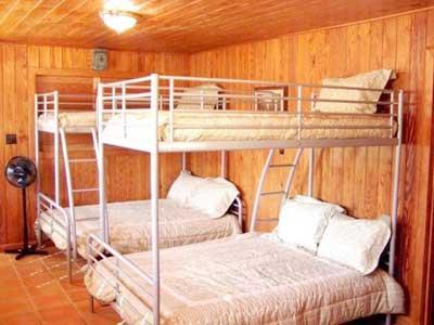 Third bedroom with double down twin up bunks