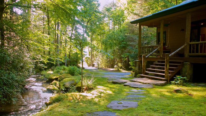 Waterfall Cabin 10' from waterfall