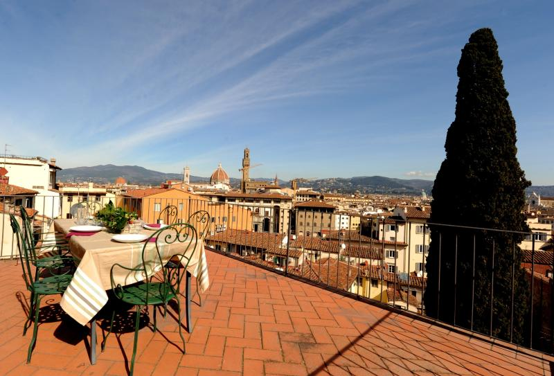 Private terrace with view over Florence