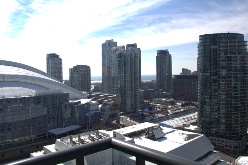 View and Rogers center and the lake from the apartment