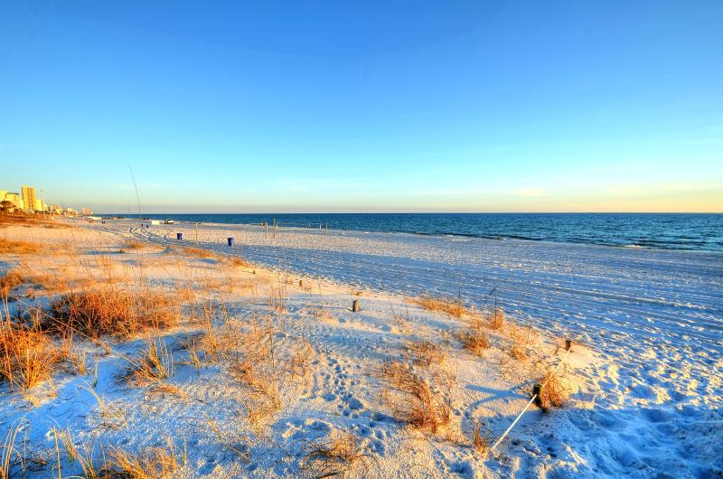 Endless white sand beaches! This is right behind townhome!