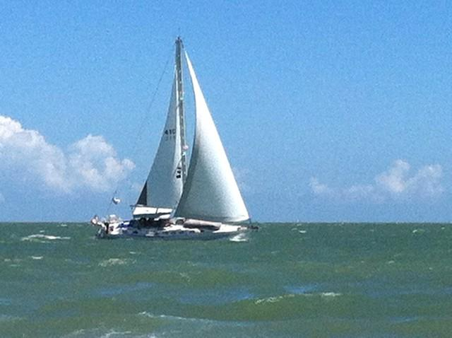 SAILBOAT PIC TAKEN FROM BEACH IN FRONT OF CONDO