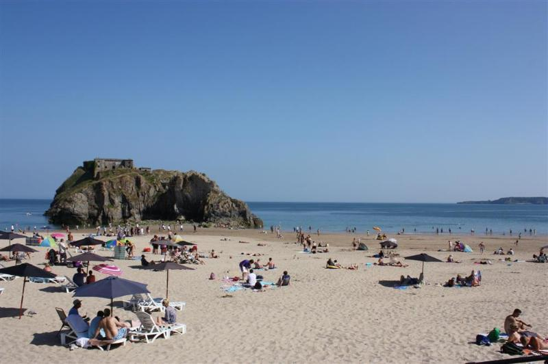 St Catherine's Island off the coast line of Tenby.